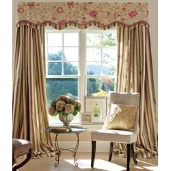 Devon Stripe Lined Rod Pocket Curtains
