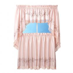 Bella Blush Kitchen Curtains
