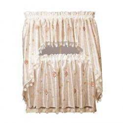 Casandra Ivory Kitchen Curtains