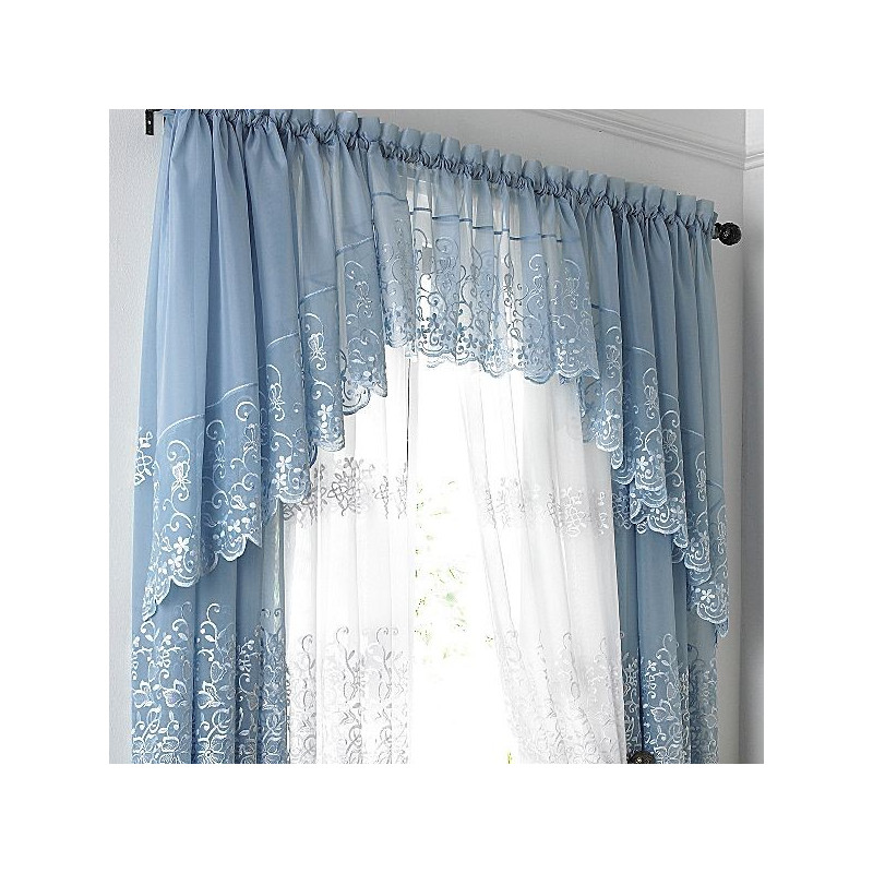 Lindsay Embroidered Sheer Coordinates Curtain Drapery Com
