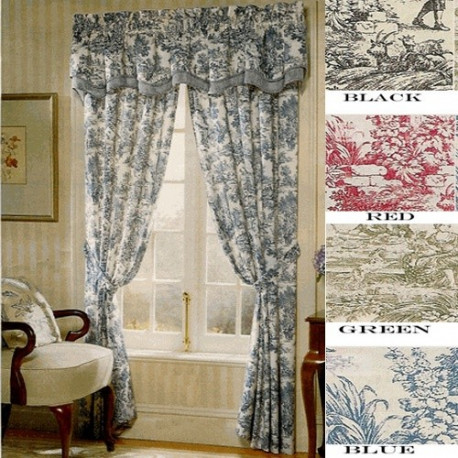 Victoria Toile Rod Pocket Curtains Amp Valances Curtain